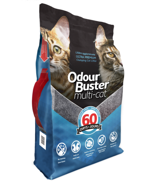 Odour Buster Multi Cat Clumping Cat Litter For Multi Cat